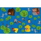 Huff and Puff Nursery Blue/Green Area Rug Rug Size: Rectangle 6' x 9'