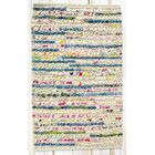 Staccato Ivory Area Rug Rug Size: Rectangle 2'6