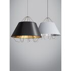 Davila 3-Light Inverted Pendant Shade Color: White Silver, Bulb Type: Halogen