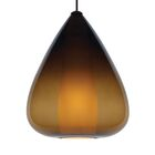 Soleil Grande 1-Light Teardrop Pendant Shade Color: Brown, Finish: Black