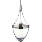 Parfum Grande 1-Light Teardrop Pendant Bulb Type: Incandescent, Shade Color: Clear / Clear, Finish: Black