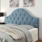 King Upholstered Panel Headboard Upholstery: Tuxedo Seafoam