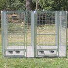 2 Dog Galvanized Steel Yard Kennel