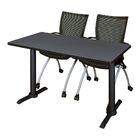 Hendrix Training Table with Chairs Tabletop Finish: Cherry, Size: 66