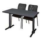 Hendrix Training Table with Chairs Tabletop Finish: Maple, Size: 60