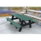 Recycled Plastic A-Frame Picnic Table Table Size: 6', Mounting Type: None, Color: Green