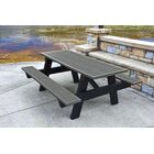 Recycled Plastic A-Frame Picnic Table Mounting Type: None, Color: Gray, Table Size: 8'