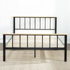 Metal/Wood Platform Bed Size: King