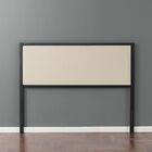 Dunnygarran Metal Upholstered Panel Headboard Size: King