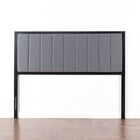 Pieper Metal Upholstered Panel Headboard Size: King