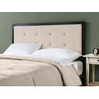 Pierro Tufted Metal Upholstered Panel Headboard Upholstery: Taupe, Size: Full