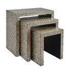 Yeates Basket Weave 3 Piece Nesting Table Color: Gray