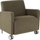 Ravenna Lounge Chair Upholstery: Renaissance Wineberry - Healthcare Vinyl, Casters/Glides: With Casters