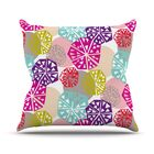 Pie In The Sky by Agnes Schugardt Rainbow Abstract Throw Pillow Size: 26'' H x 26'' W x 1