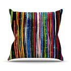 Fancy Stripes by Frederic Levy-Hadida Throw Pillow Size: 26'' H x 26'' W x 1