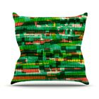 Squares Traffic by Frederic Levy-Hadida Throw Pillow Size: 26'' H x 26'' W x 1