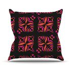 Orange on Black Tile Throw Pillow Size: 26