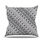 Silver Lace Throw Pillow Size: 26