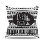 Hakuna Matata Throw Pillow Size: 26
