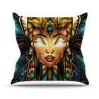 Nefertari by Mandie Manzano Throw Pillow Size: 26