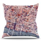 City Of London by Alison Coxon Map Throw Pillow Size: 26'' H x 26'' W x 1