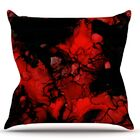 Vesuvius by Claire Day Throw Pillow Size: 26'' H x 26'' W x 1