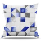 Winter Geometry by Kira Crees Throw Pillow Size: 26
