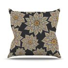 Throw Pillow Color: Floral Dance In The Dark, Size: 26