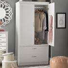 Acapella Wardrobe TV Armoire Finish: White