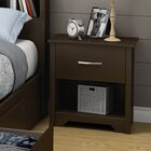 Fusion 1 Drawer Nightstand Color: Chocolate