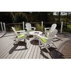 Trex Cape Cod Adirondack Sunbrella Seating Group with Cushions
