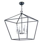 Beckford 4-Light Foyer/Geometric Chandelier Size: 27.75
