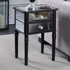 Karle End Table with Storage Color: Black