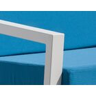 Vero 5 Piece Sunbrella Conversation Set with Cushions Fabric: Sky Blue, Color: Textured White