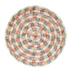 String Hand Woven Wool Beige/Blue/Red Area Rug