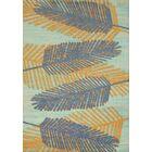Island Breeze Breezy Days Blue/Orange Area Rug Rug Size: Rectangle 5'3