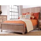 Linen Panel Bed Size: King