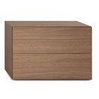 People 2 Drawer Nightstand Color: Walnut