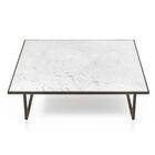 Icaro Coffee Table Table Base Color: Black Titanium, Table Top Color: Matte Grafite Marble