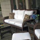 Princeton Deep Seating Sofa with Cushions Fabric: Panama Onyx