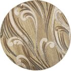 Timeless Natural Scrolls Area Rug Rug Size: Round 7'7