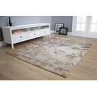 Giles Primary Distressed Gray/Yellow Area Rug Rug Size: 7'10