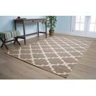 Pomfret Brown/Cream Area Rug Rug Size: 5'3