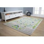 Corben Traditional Distressed Gray/Green Area Rug Rug Size: 5'3