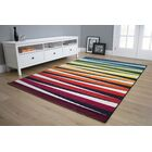 Burchell Bold Stripes Red/Black Area Rug