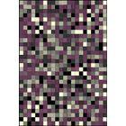 Ramel Dark Weaved Squares Purple Area Rug Rug Size: Rectangle 7'8