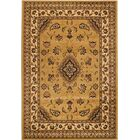 Cloudview Elegance Bordered Yellow Area Rug Rug Size: Rectangle 5'3