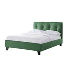 Waltman Eversoft Tufted Upholstered Platform Bed Color: Faded Green, Size: Full