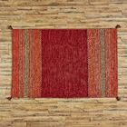 Fogarty Hand-Woven Red Area Rug Rug Size: Rectangle 4' x 6'