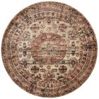 Lucien Champagne/Beige Area Rug Rug Size: Rectangle 6'7